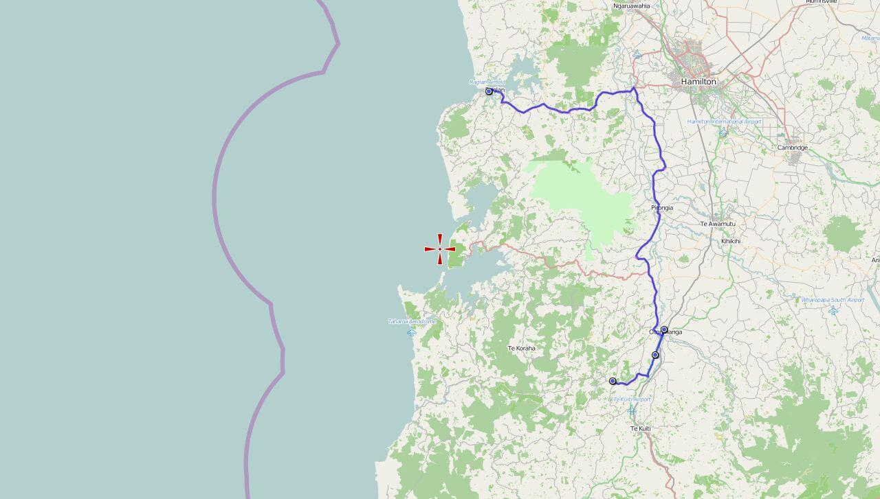 Von Raglan nach Waitomo Caves