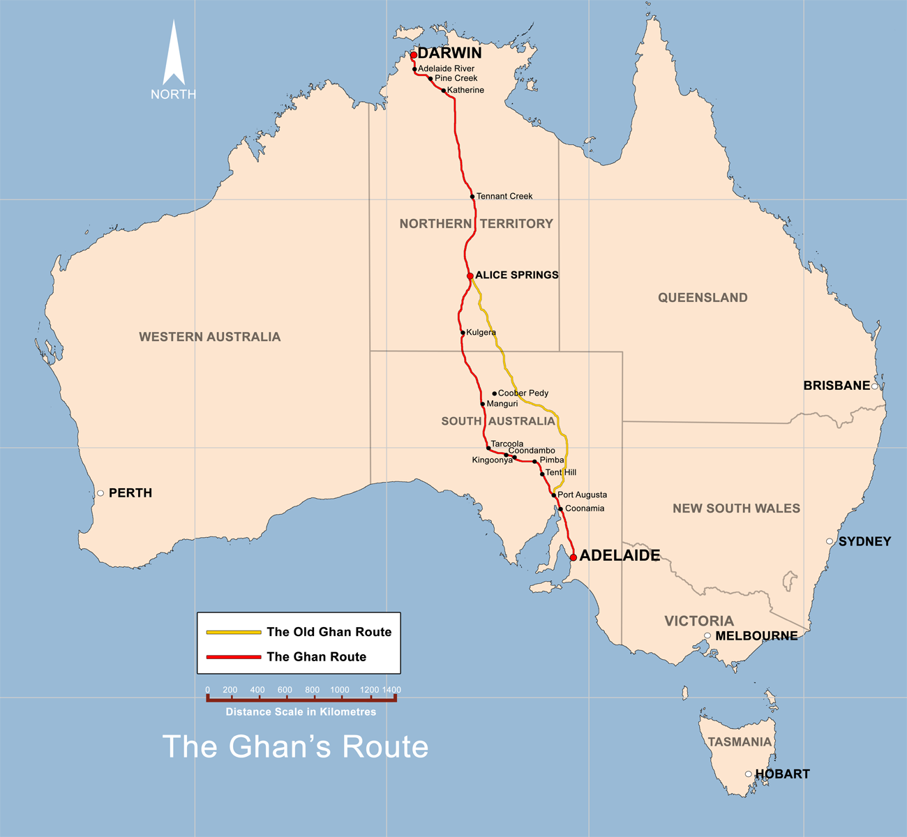The Ghan Route