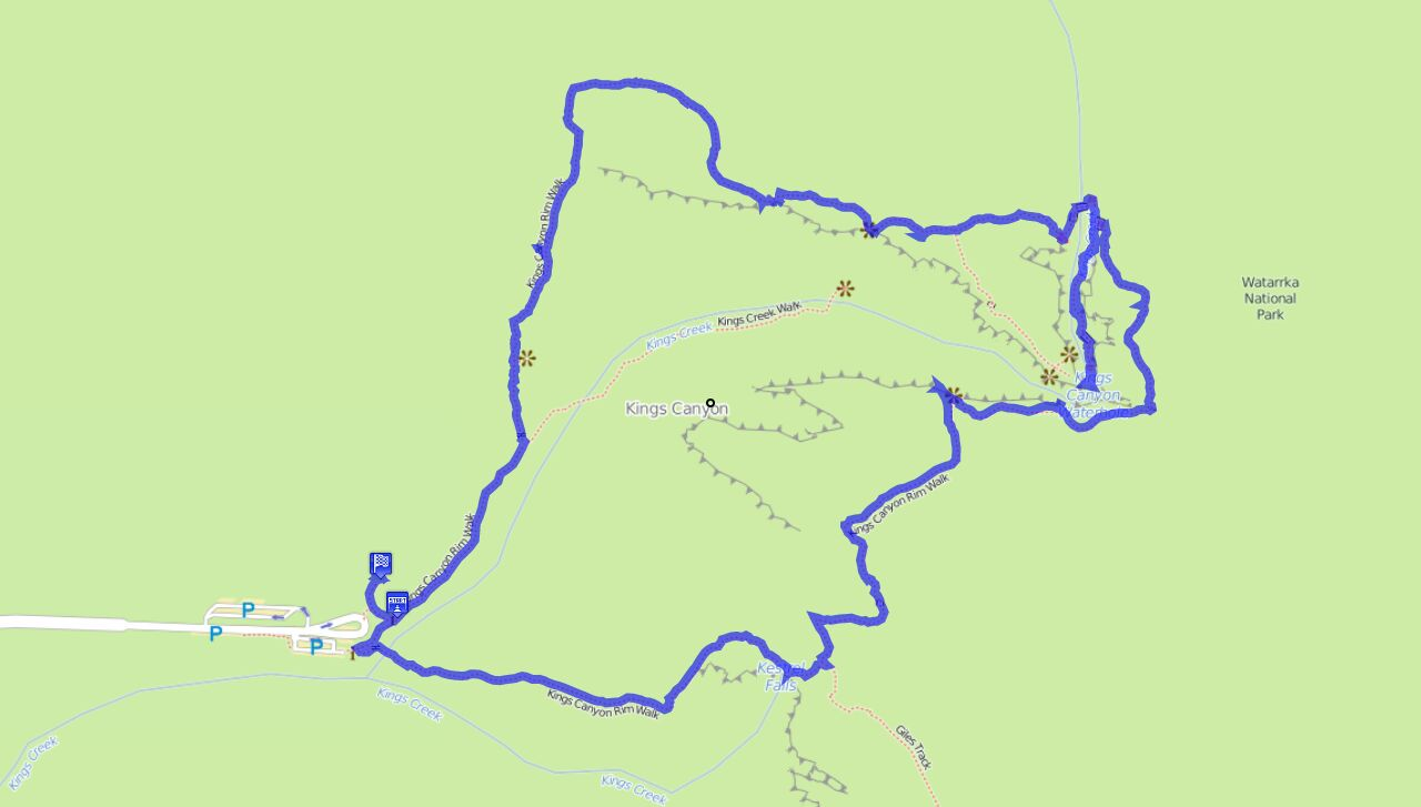 Kingscanyon Rimwalk