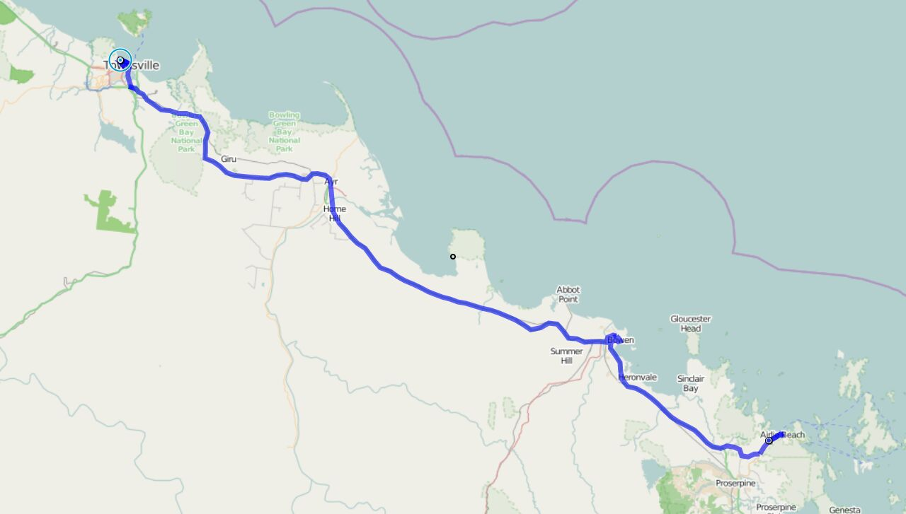 Von Airlie Beach nach Townsville