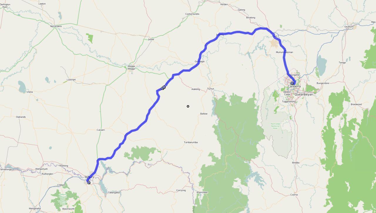 Von Canberra nach Wodonga