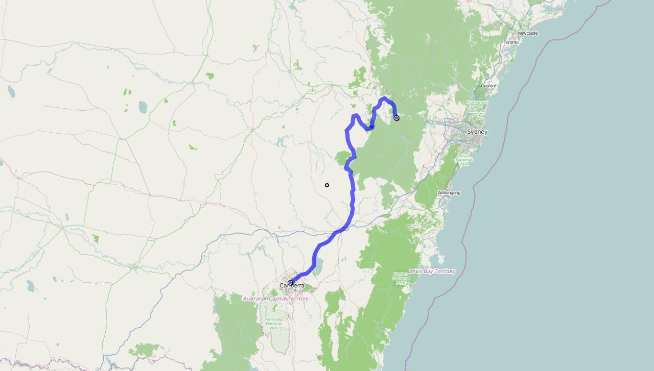 Von Katoomba nach Canberra