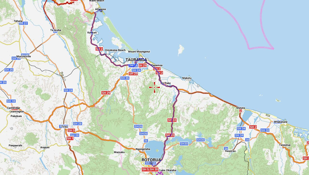 Von Rotorua nach Athenree