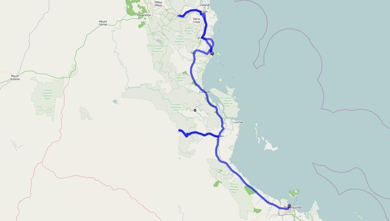 Von Townsville nach Mission Beach