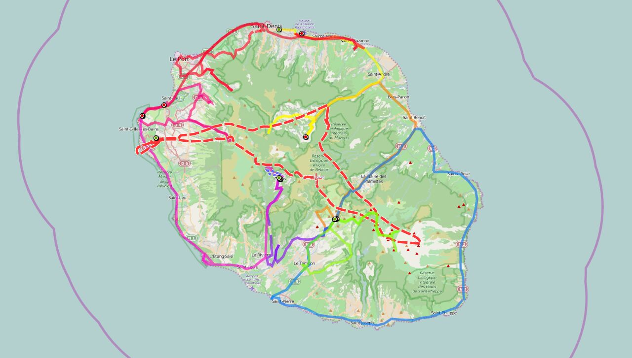 La Reunion GPS Track