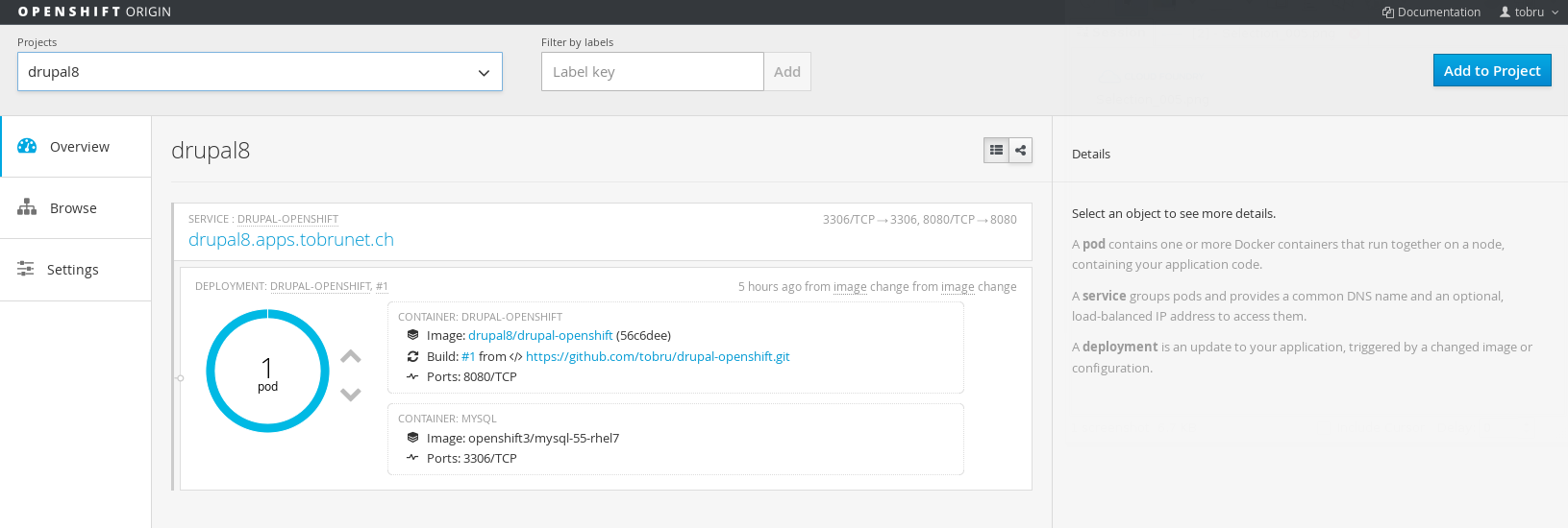 OpenShift 3 Web Insterface